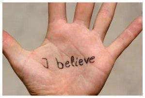 i believe hand