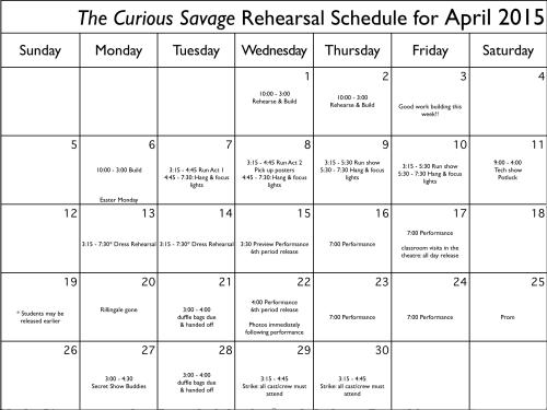 April Rehearsal