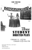 NSHS - 3 Directed Plays FINAL